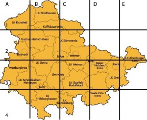 Übersichtskarte Thüringen