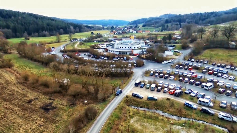 Blick zur Therme