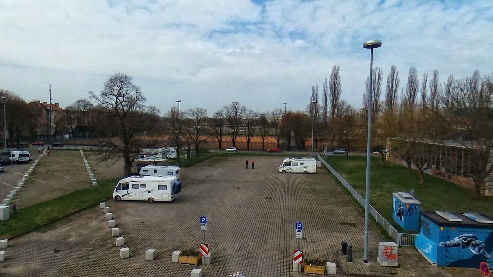 Überblick über den Stellplatz in Weimar