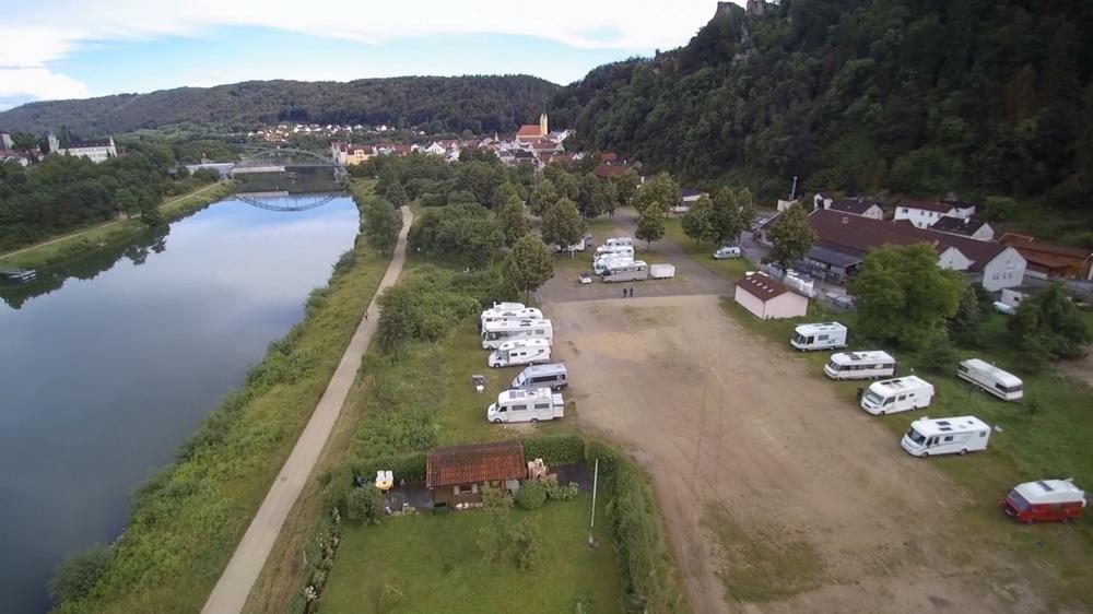 Überblick Stellplatz und Ort Riedenburg