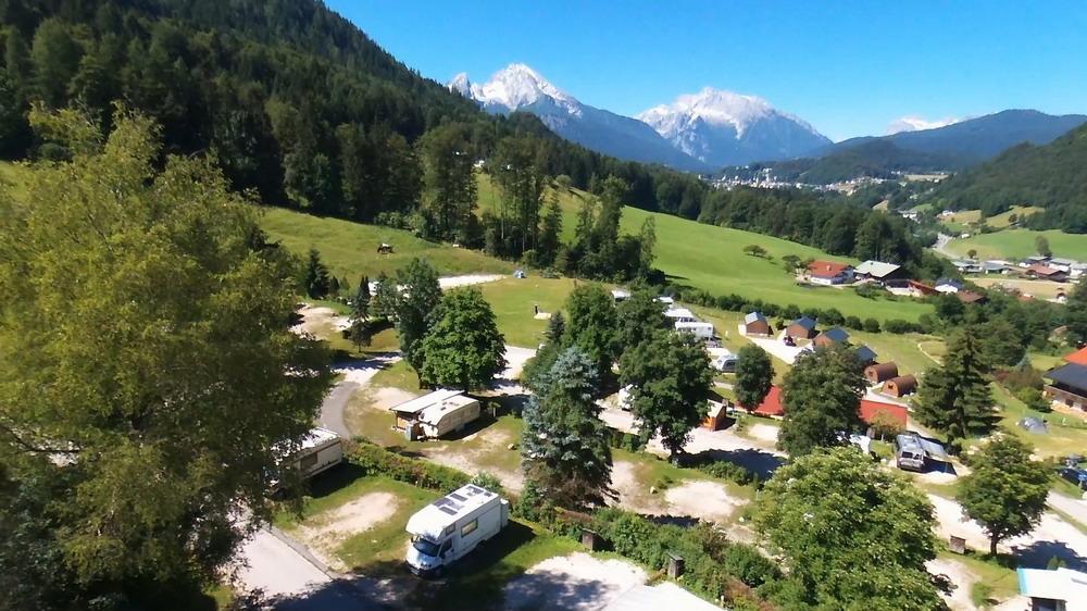 Blick vom Campingplatz zum Watzmann Massiv