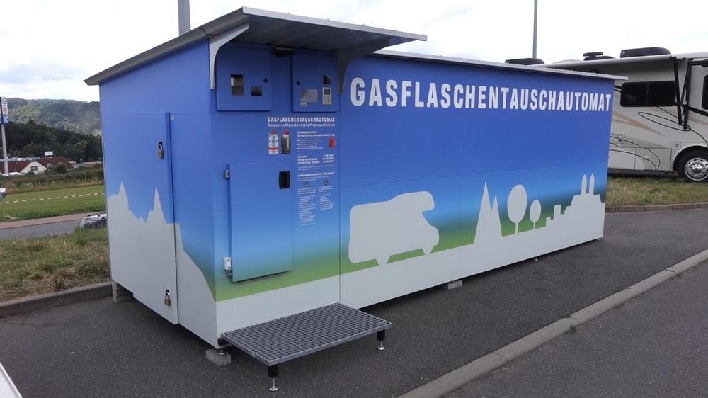 Gasflaschen- Automat, selbst Gasflschen tauschen