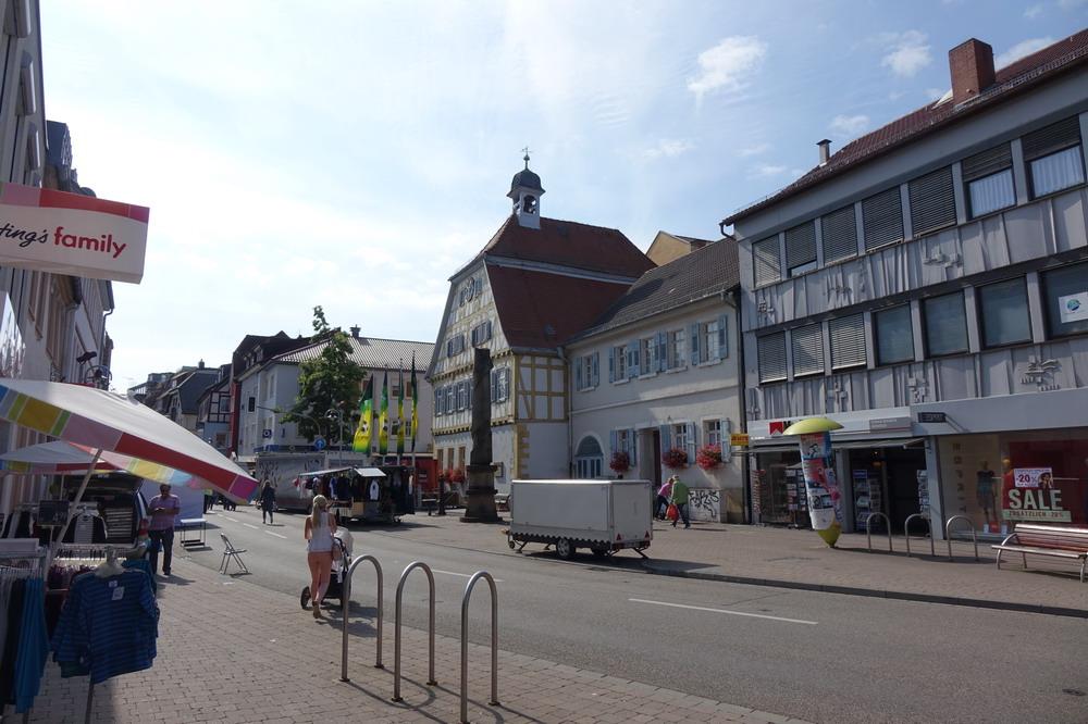 Stadtzentrum von Sinsheim